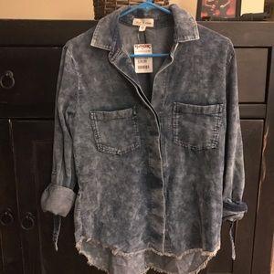 Cloth & Stone button down denim looking shirt XS